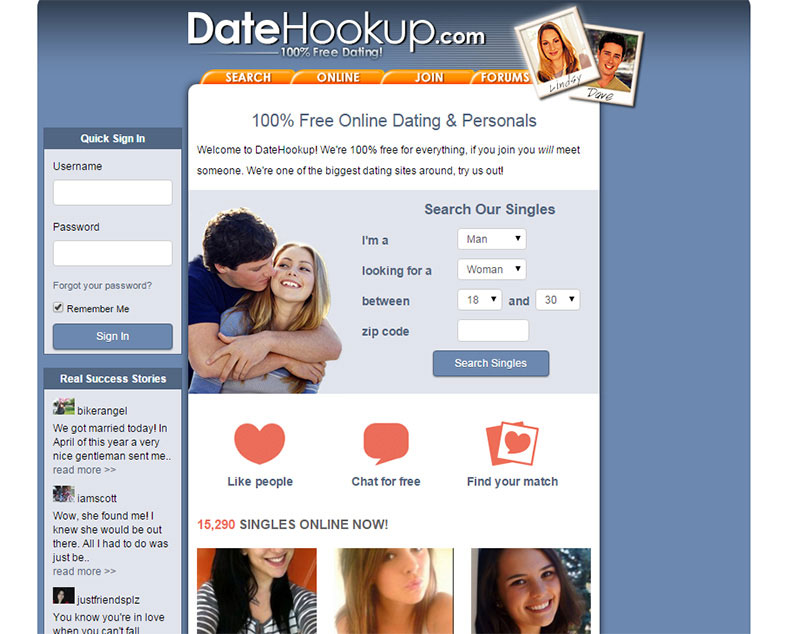 Hookup sites review