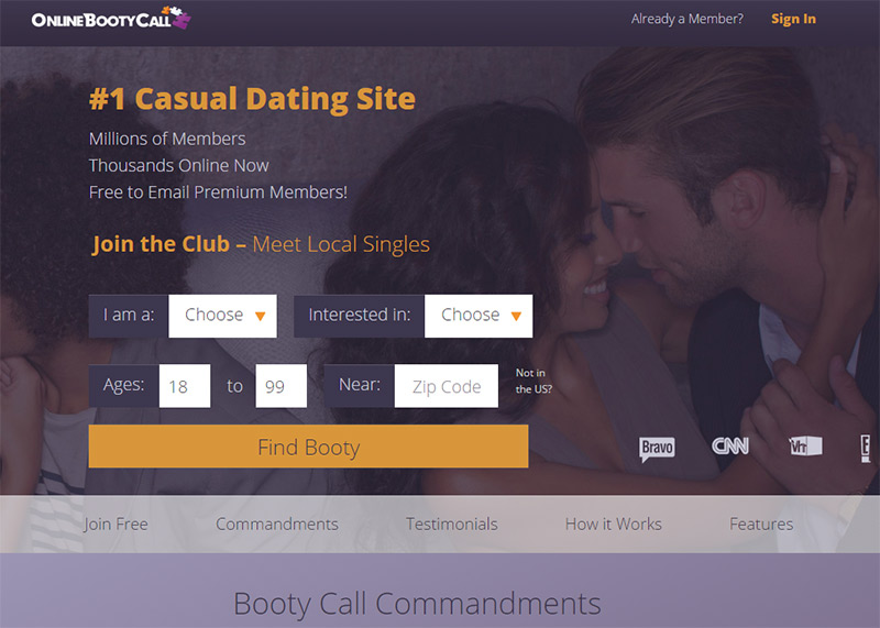 onlinebootycall login and review