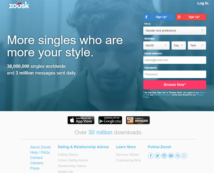 Zoosk dating site coupons