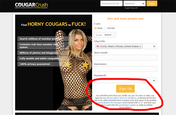 cougarcrush dating review
