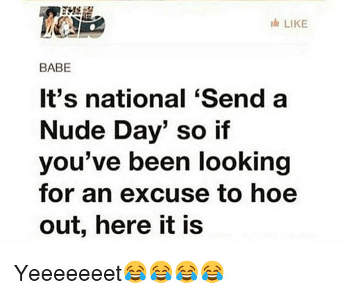 National Send A Nude Day meme