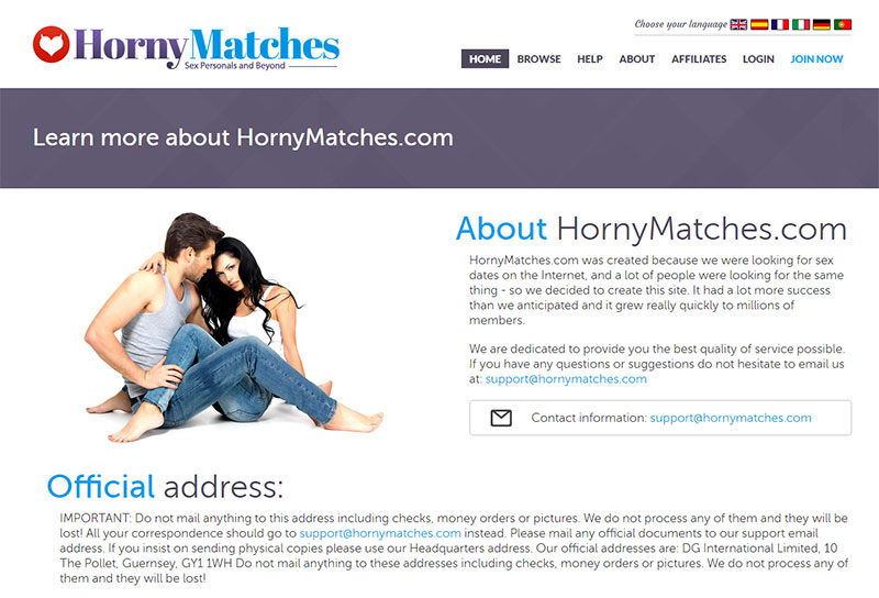 Hornymatches.com Homepage