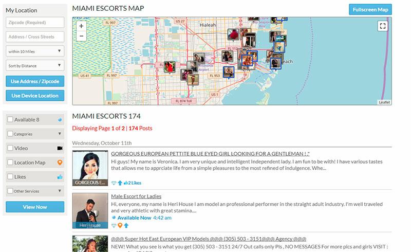 City Vibe Map Listings