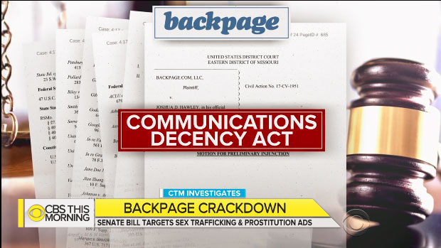 CBS This Morning Backpage Crackdown