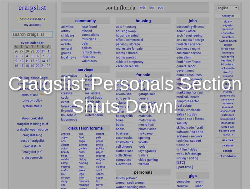 craigslist personals shutdown for good