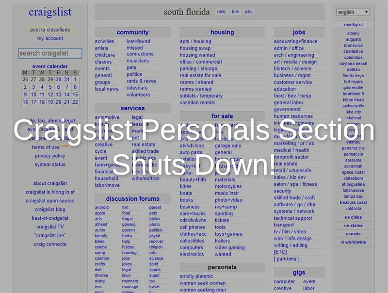 craigslist personals shutdown for good