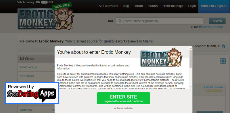 Erotic Monkey Site Review
