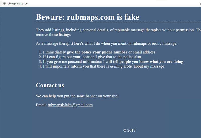 Rubmaps is fake