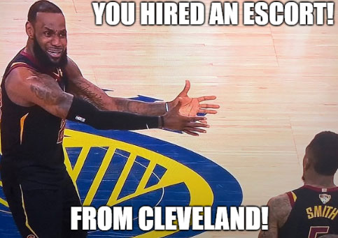jr smith Cleveland Cavs escort meme