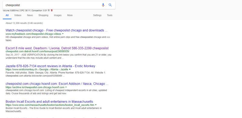 Cheeposlist search