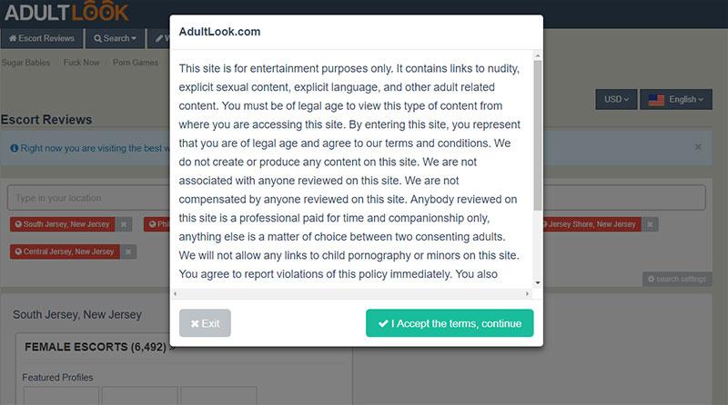 TOS of Adultlook.com