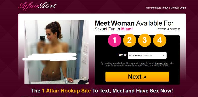 affair alert screenshot
