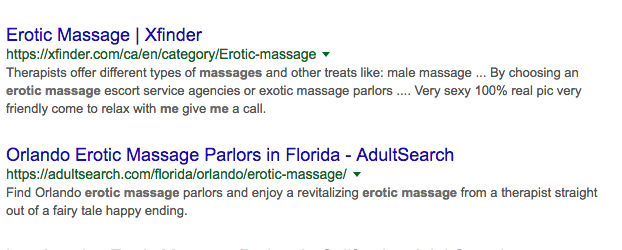 Googling for Erotic Massages