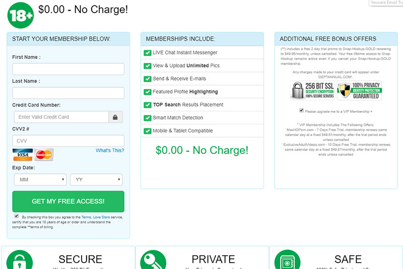 Meetbang.com charges