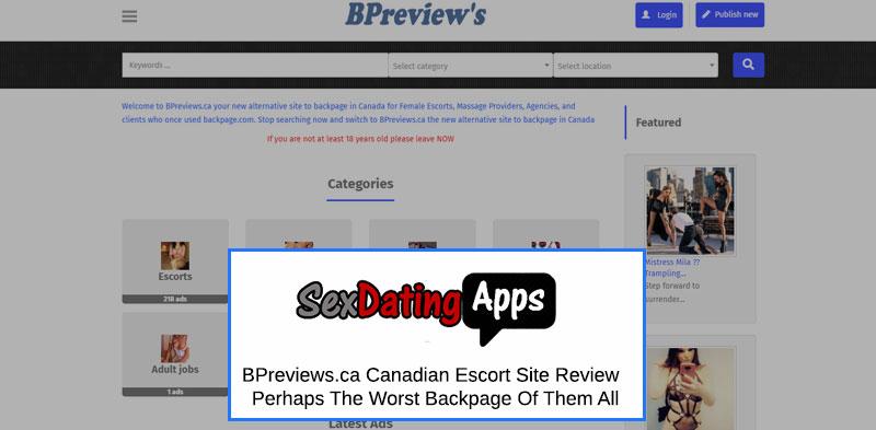 BPreviews.ca homepage