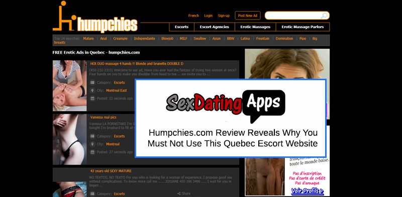 Humpchies Homepage and Review