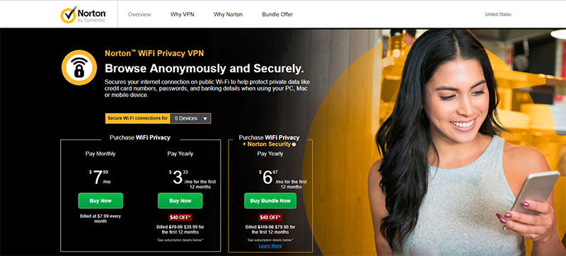 Norton VPN service