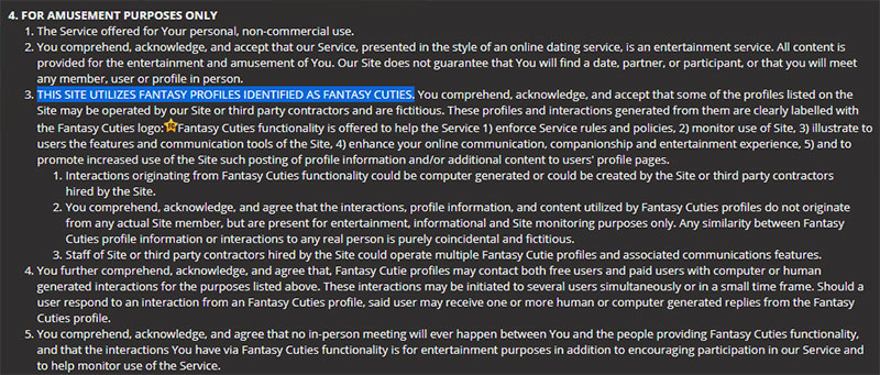 Fantasy Cuties Terms and Conditions