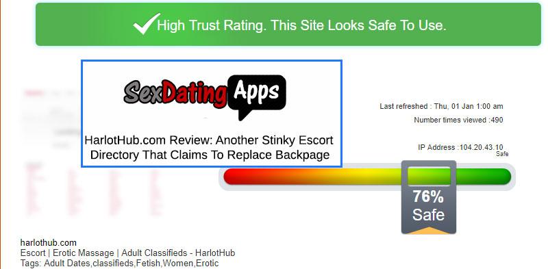 Scamadviser.com harlot hub