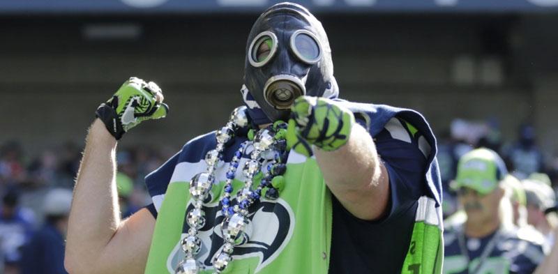 Sports Fan Wearing Fan Gear