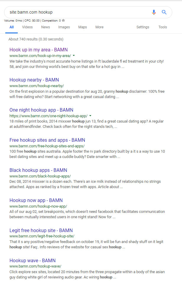 search results of bamn.com