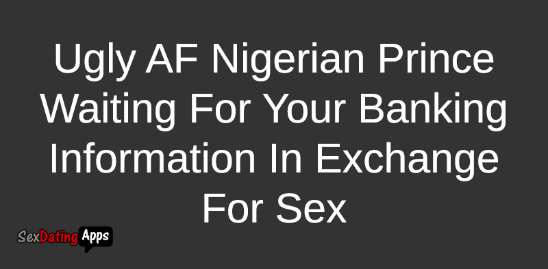 Nigerian dating scam bio