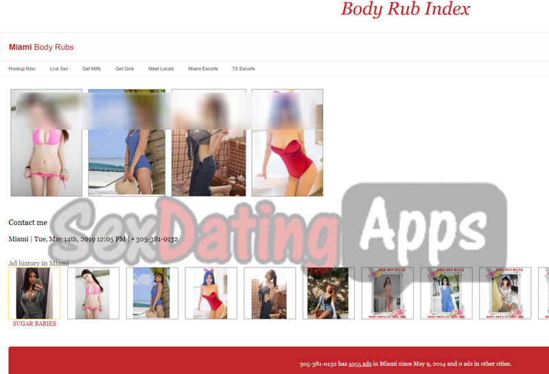 body rub index miami ad