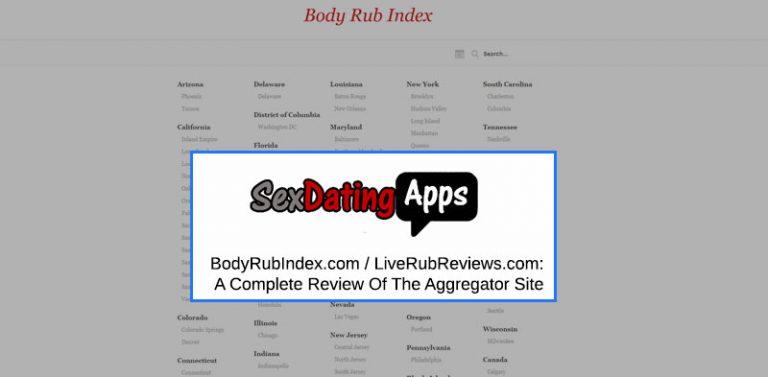 Body Rub Index Homepage