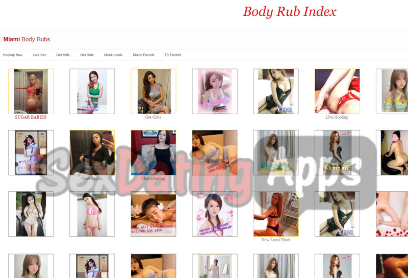 Main Miami Section of Live Rub Reviews