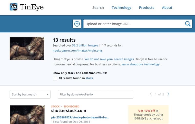 main marketing image tineye