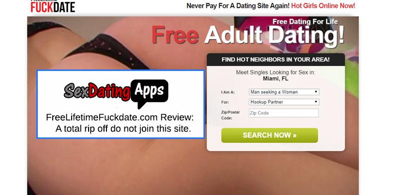 Freelifetimefuckdate.com homepage