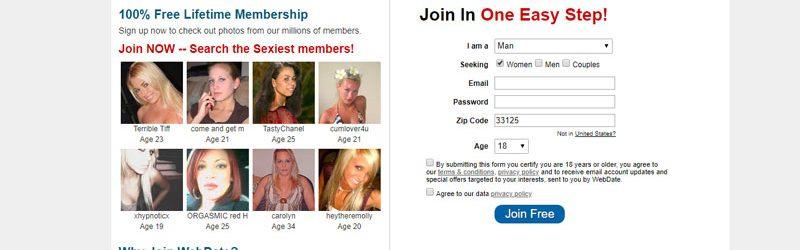 webdate signup form