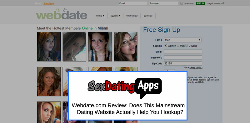 Webdate screenshot