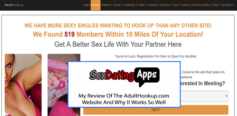 Adult Hookup homepage