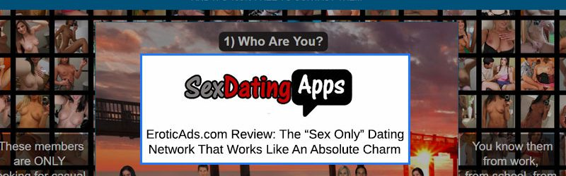 Homepage of Erotic Ads