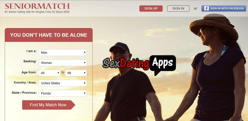 SeniorMatch.com homepage