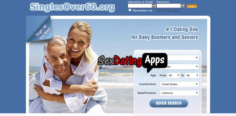 SinglesOver60.org homepage