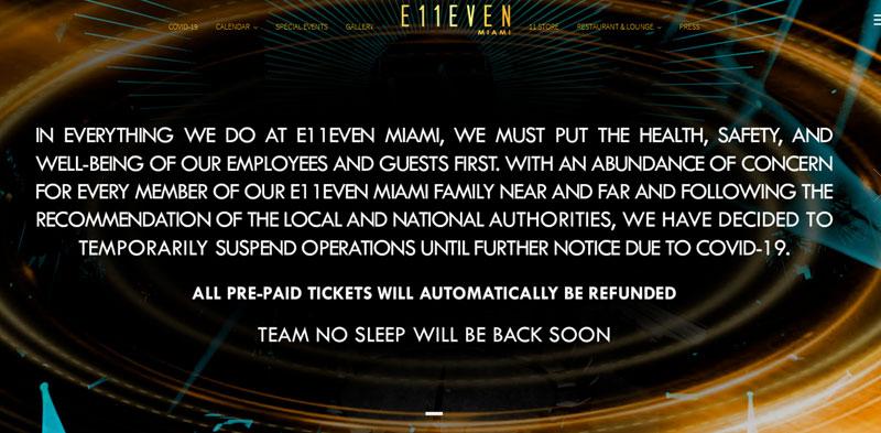 E11EVEN shut down