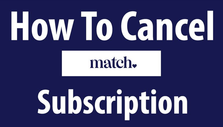 How To Cancel Match Subscription