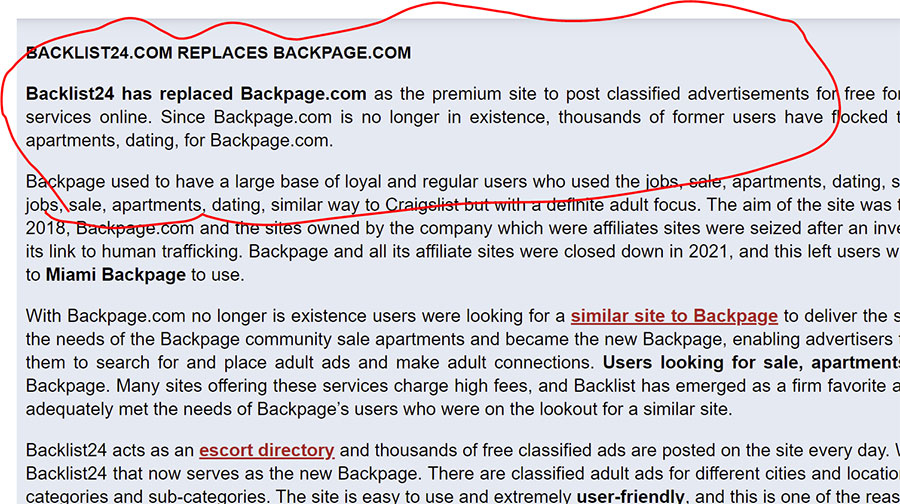 backage24 replace backpage
